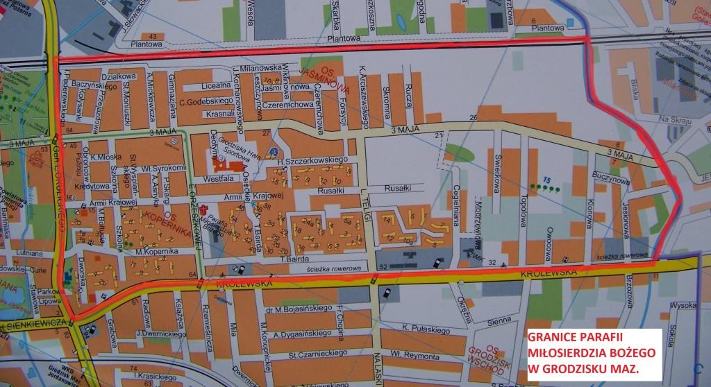 Mapa Parafii